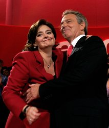 Cherie in Tony Blair