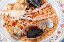 Rižota z morskimi sadeži