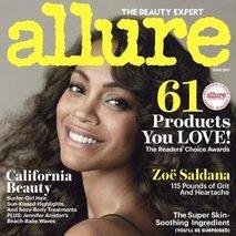 Zoe Saldana za naslovnico Allure