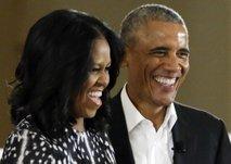 Barack in Michelle Obama