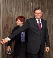 Borut Pahor in Majda Širca