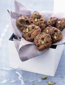 Piškoti s pistacijo in koščki čokolade