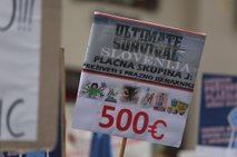 Protestni shod zaposlenih v javnem sektorju z najnižjimi plačami - 21