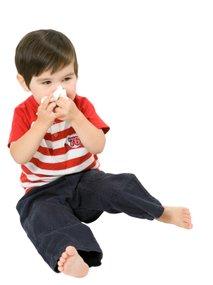 Deček s prehladom