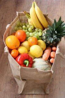 Sadje in zelenjava v vrečki
