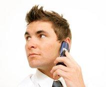 podjetnik na telefonu