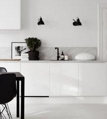 Kuhinja, črna, bela