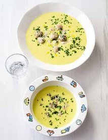 Žametna krompirjevo-koruzna juha