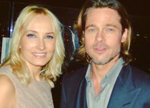 Tanja in Brad Pitt