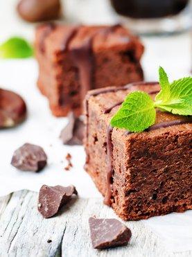 Čokoladno-kostanjevi browniji