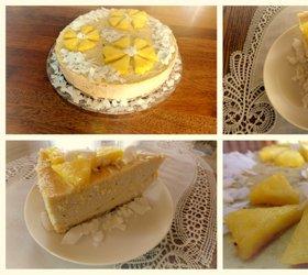 Kokosovo-ananasova presna torta