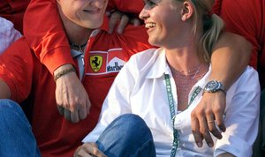 Michael in Corinna Schumacher