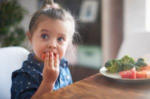 Otrok in zelenjava