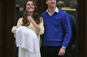 Kate in William z novorojenko - 10