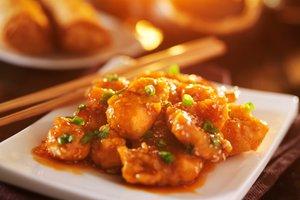 Piščanec v pomarančni omaki po azijsko