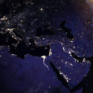 Evropa ponoči