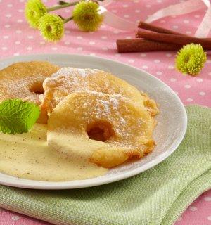 Ocvrta jabolka z vanilijevo omako