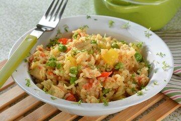 Rižota s piščancem in zelenjavo