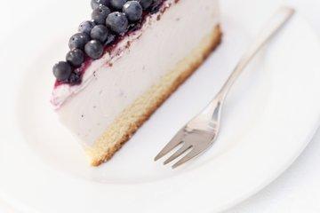 Skutna torta z borovnicami