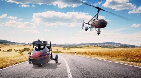 leteči avto, naslovna