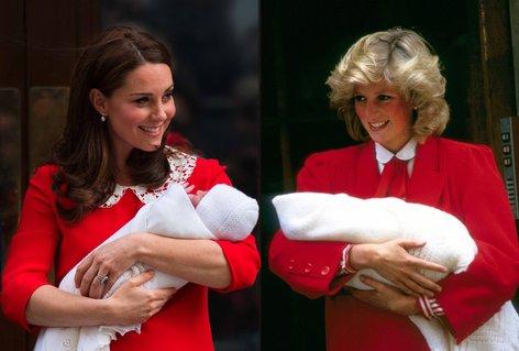 Kate Middleton in princesa Diana