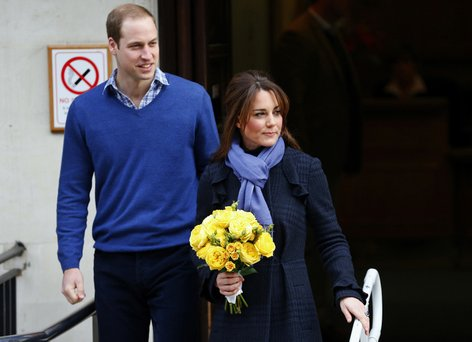 Princ William in Catherine Middleton