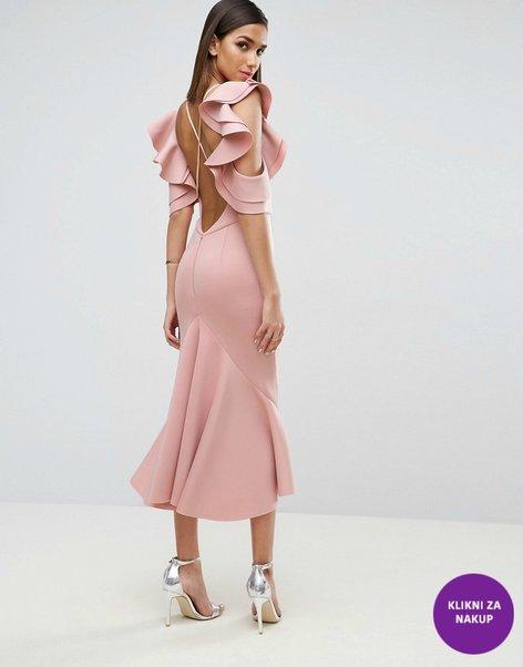 Obleke za družice v umazano roza odtenku - 1