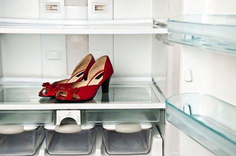 Čevlji v hladilniku