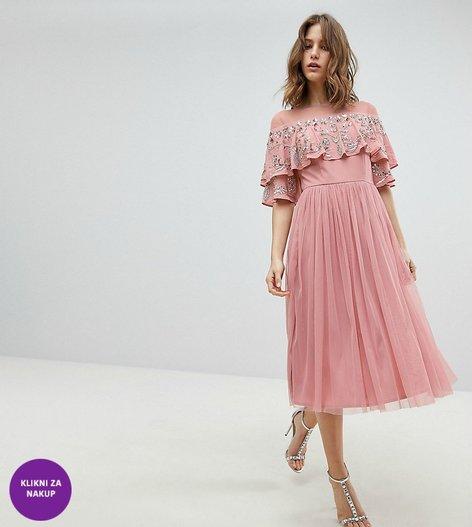 Obleke za družice v umazano roza odtenku - 9