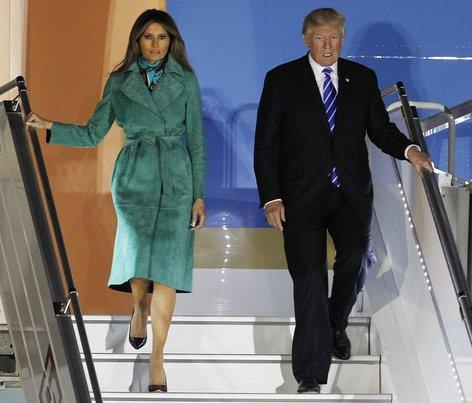 Donald in Melania Trump prispela v Varšavo - 7
