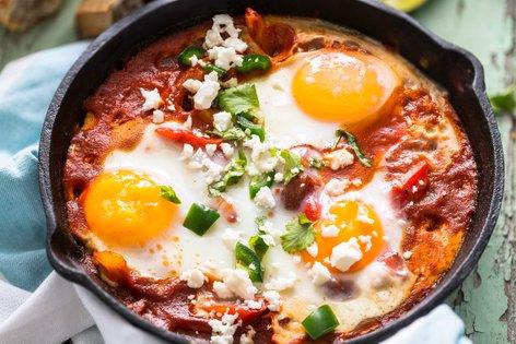 Jajca v paradižnikovi omaki