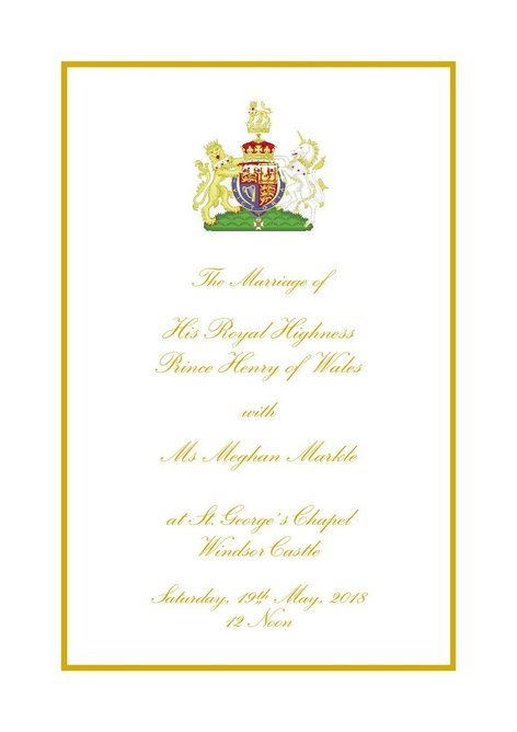 Order of service wedding