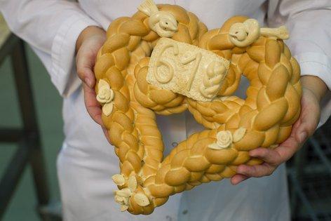 Braided Heart Bread | Pleteno Srce Recipe — Dishmaps