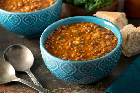 Lečina enolončnica s curryjem