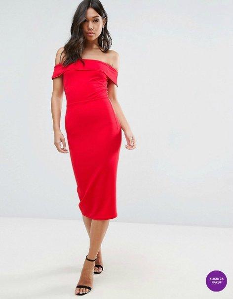 Rdeča oprijeta obleka - 3