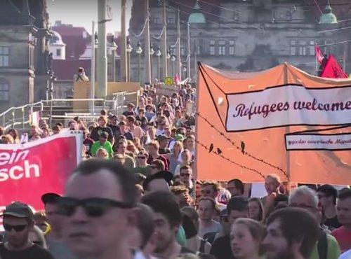 Dobrodošlica beguncem v Dresdnu
