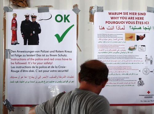 Navodila beguncem v Avstriji