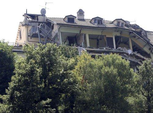 porušen hotel Roma v Amatriceju