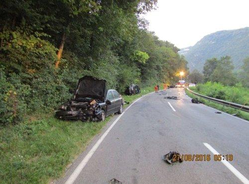 prometna nesreča na cesti Solkan-Plave - 1