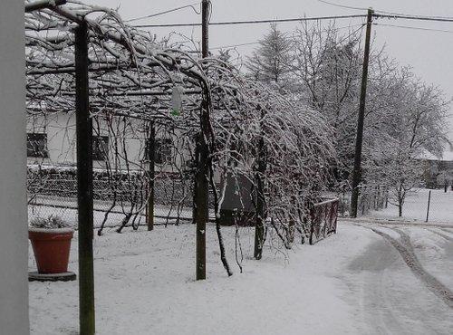 Sneg v Prekmurju