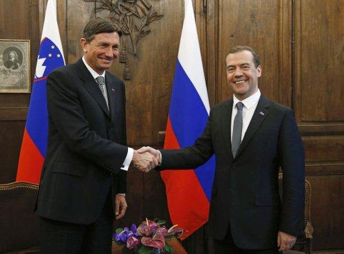 Borut Pahor in Dmitrij Medvedjev