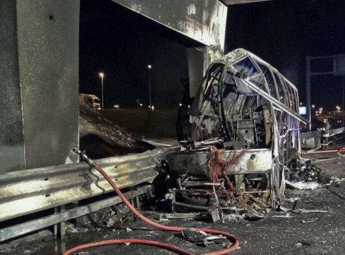 nesreča madžarskega avtobusa v Italiji