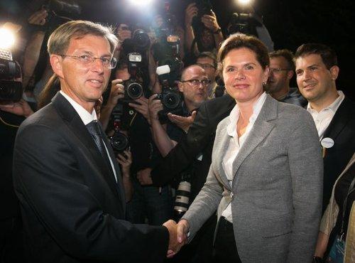 Miro Cerar in Alenka Bratušek