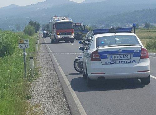 prometna nesreča na Ižanki