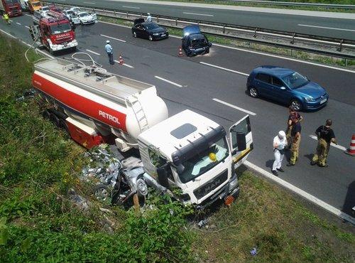 prometna nesreča na primorski avtocesti - 1