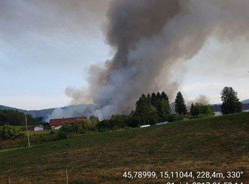 Drugi dan gašenja požara v Zalogu - 3