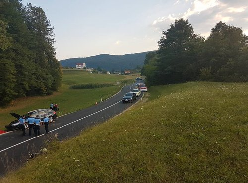 Prometna nesreča pri Žužemberku