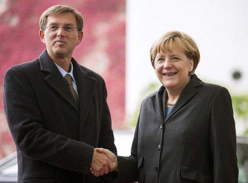 Miro Cerar in Angela Merkel