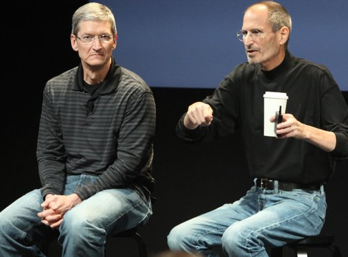 Tim Cook in Steve Jobs