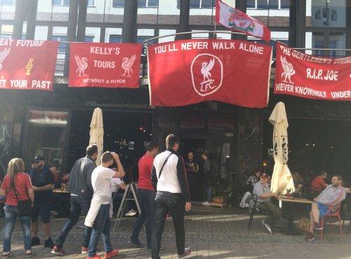 navijači Liverpoola v Mariboru